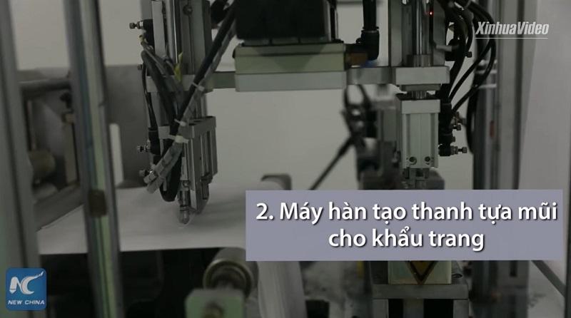 may lam khau trang N95-buoc 2 tao tua mui